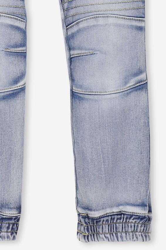 Chad Denim Joggers, SKY BLUE WASH