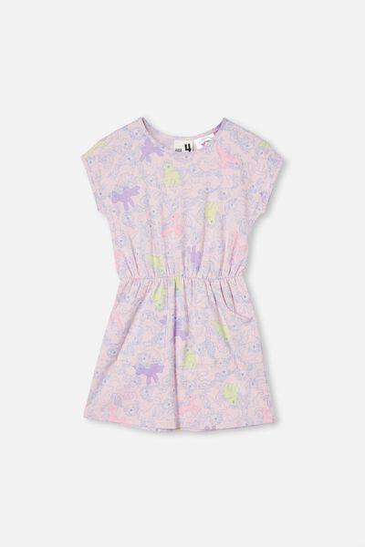 License Sigrid Short Sleeve Dress, LCN PINK QUARTZ/MY LITTLE PONY