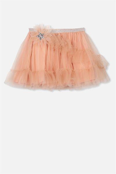 Trixiebelle Tulle Skirt, DUSTY CARAMEL/HOWDY STAR