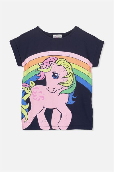 Lux Short Sleeve Tee, PEACOAT/MY LITTE PONY