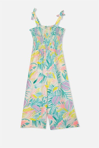 Serena Shirred Jumpsuit, PAINTERLY FLORAL