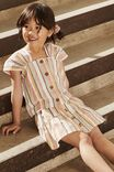 Paloma Ss Button Through Top, MULTI STRIPE