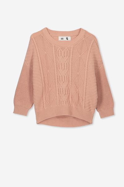 Deonne Knit Jumper, CAMEO BROWN