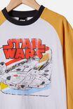 Raglan Long Sleeve License Tee, LCN LUC VINTAGE  HONEY / STAR WARS