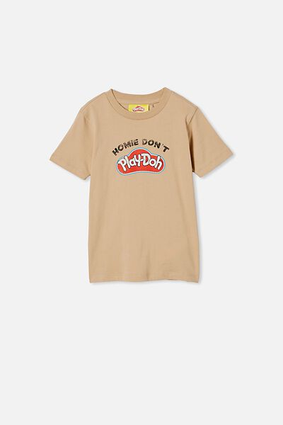 Co-Lab Short Sleeve Tee, LCN HAS HOMIE DONT PLAYDOH/SEMOLINA
