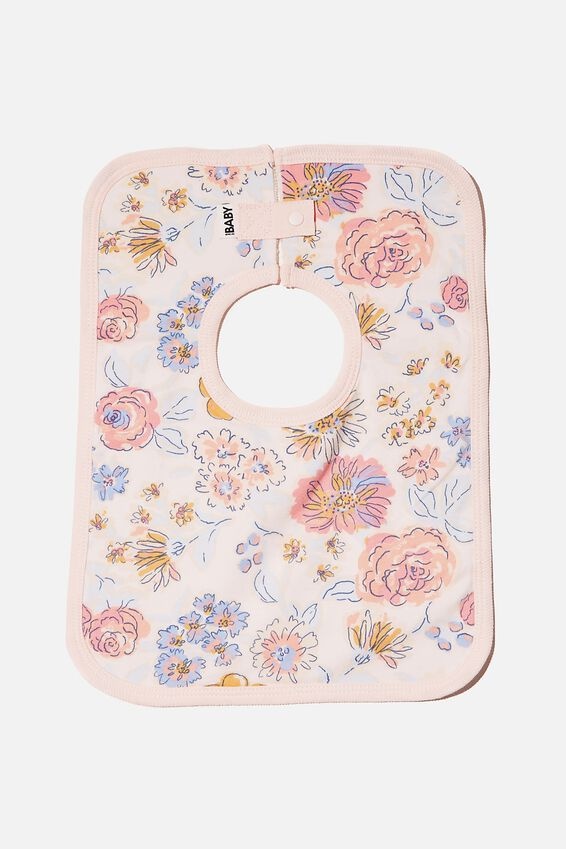 The Darcey Square Bib, CRYSTAL PINK/MATILDA FLORAL