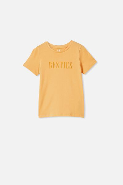 Penelope Short Sleeve Tee, PAPAYA/BESTIES