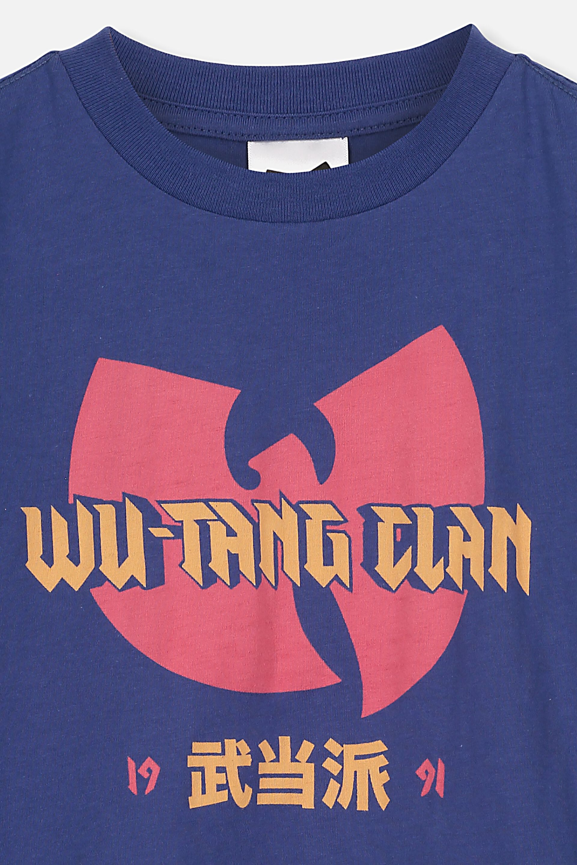 wu tang clan t-shirt model:blue clothing kid t shirt toddler children size:1-8y