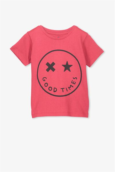 Max Short Sleeve Tee, RIVER RED GOOD TIMES/SIS