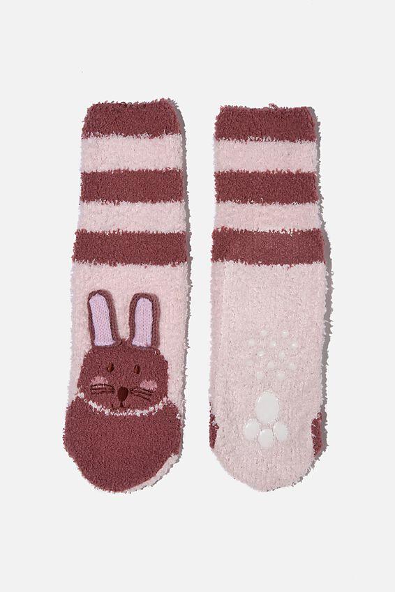 Slipper Sock, VERY BERRY BUNNY