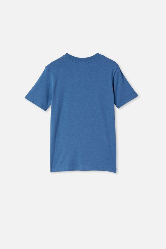 Downtown Short Sleeve Tee, PETTY BLUE / NOODLE