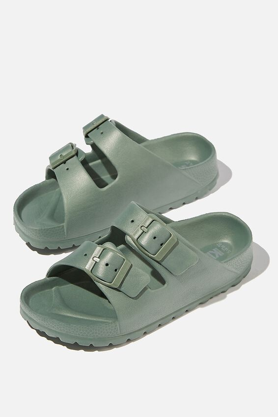 Twin Strap Slide, SWAG GREEN