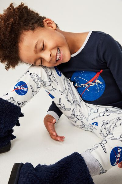 Harry Long Sleeve Boys PJ Set, LCN NAS/NASA BLAST OFF