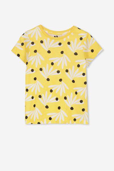 6b90501e Penelope Short Sleeve Tee, SUNSET GOLD/FLOWER BURST. Cotton On Kids