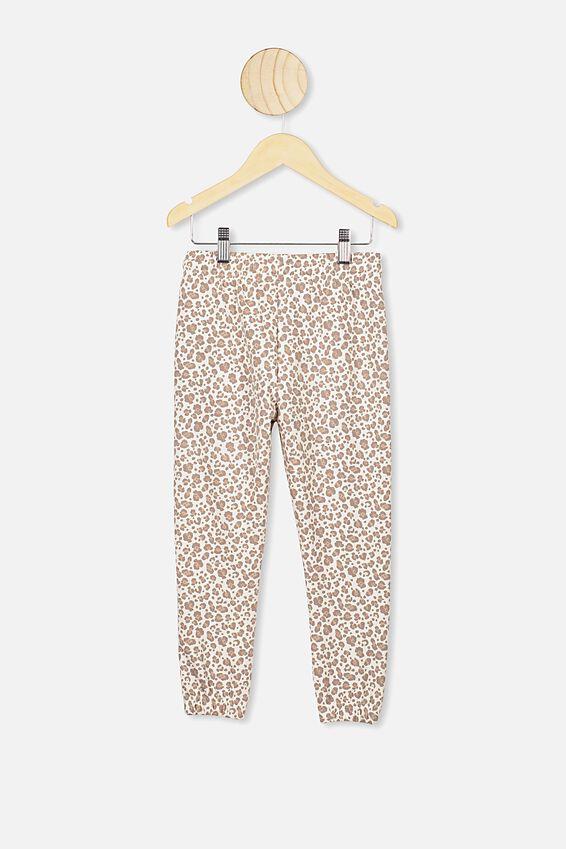 Kiera Cuff Trackpants, DARK VANILLA/SNOW LEOPARD