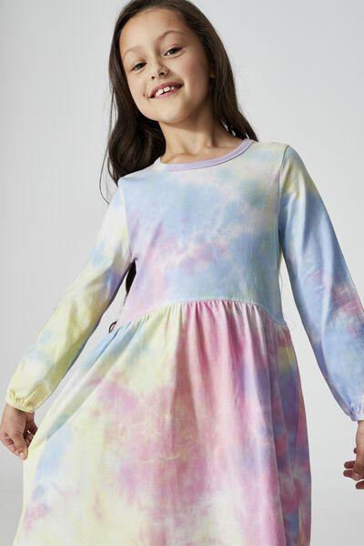 Savannah Long Sleeve Dress, RAINBOW TIE DYE