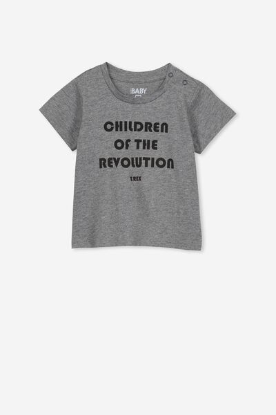 Jamie Short Sleeve Tee, LCN EP CHARCOAL/CHILDREN OF THE REVOLUTION