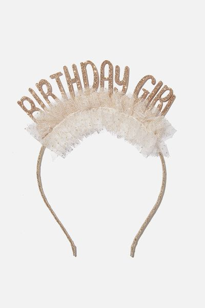 Headband - Birthday, BIRTHDAY GIRL TULLE