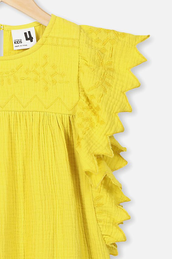 Maggie Short Sleeve Dress, SUNSHINE