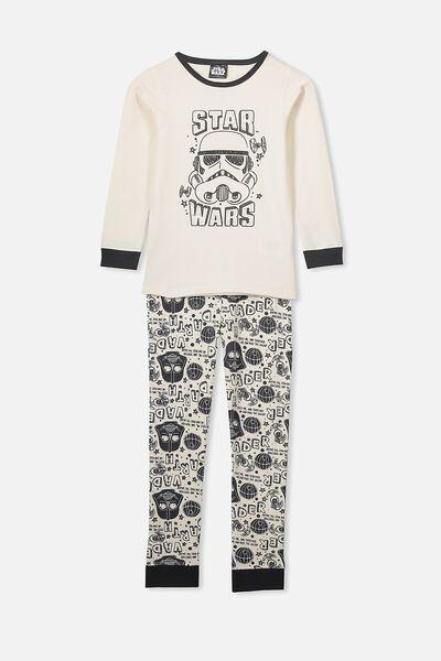 Harrison Long Sleeve Boys Pyjamas, LCN LU STAR WARS/BW