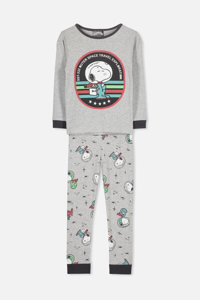 Harry Long Sleeve Boys PJ Set, LCN ASTRO SNOOPY
