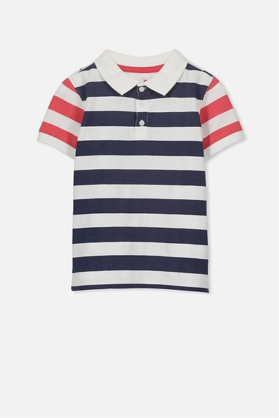 Kenny3 Polo, VANILLA/STRIPE/STARS