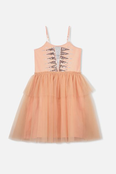 Iris Tulle Dress, DUSTY CARAMEL/SOUTHWEST