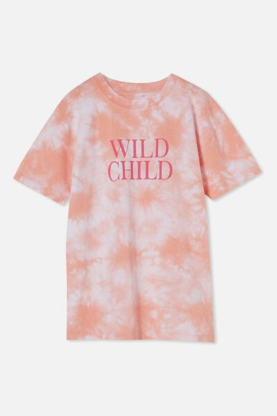 Scout Drop Shoulder Short Sleeve Tee, MUSK MELON TIE DYE/WILD CHILD