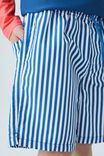 Bailey Board Short, PETTY BLUE/VERTICAL STRIPE