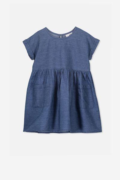 Malia Short Sleeve Dress, DARK WASH
