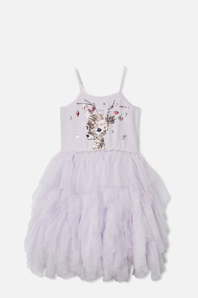 Iris Dress Up Dress, LAVENDER FOG/REINDEER