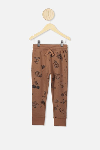 Heritage Trackpant, MILK CHOCOLATE/ MIXED ELEMENTS