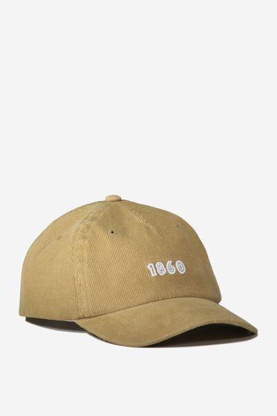 Baseball Cap - Dog, BEIGE/CORDUROY
