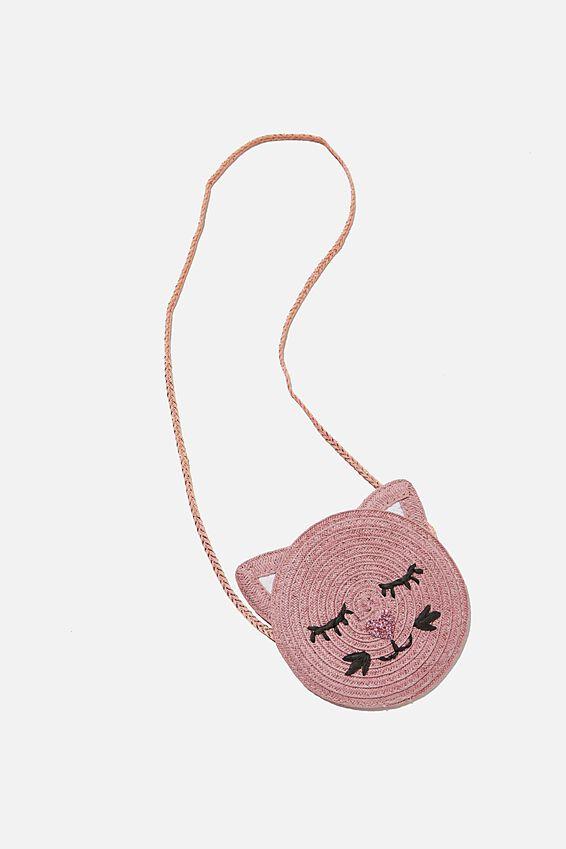 Raffia Kitty Jayme Critter Bag, RAFFIA KITTY
