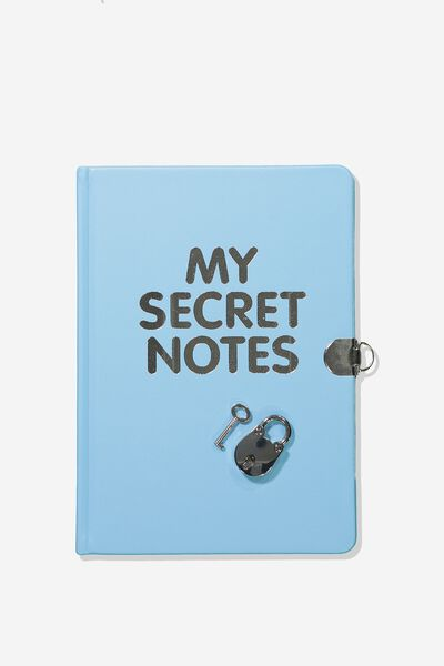 Sunny Buddy A5 Secret Notebook, BLUE SECRET