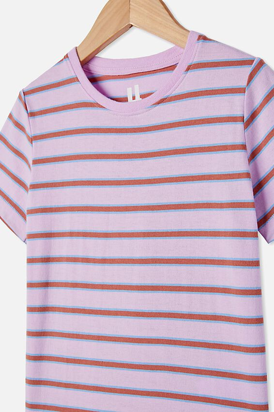 Core Ss Tee, PALE VIOLET/STRIPE