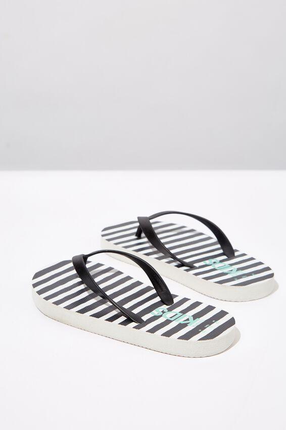 Printed Flip Flop, PHANTOM WHITE STRIPE