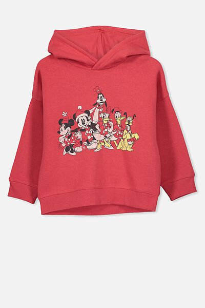 Lux Hoodie, LCN DIS LUCKY RED/MICKEY FAMILY CHRISTMAS/DROP