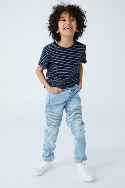 Skinny Fit Moto Jean, BELLS LIGHT BLUE