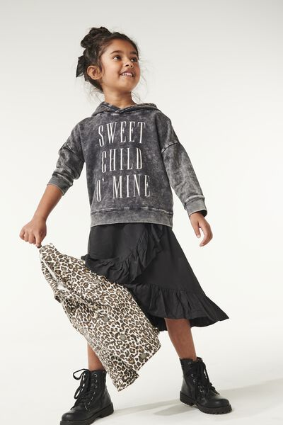 Lux Hoodie, LCN BR BLACK WASH/SWEET CHILD O'MINE/DROP