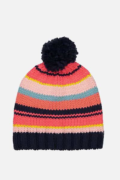 Winter Knit Beanie, MULTI STRIPE