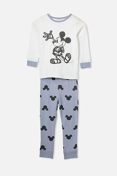 Harrison Long Sleeve Boys Pyjamas, LCN DIS MICKEY MOUSE SKELETON