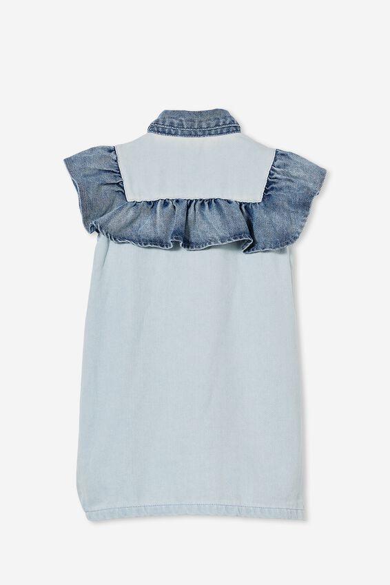 Lucille Sleeveless Frill Dress, WEEKEND/BLEACH WASH