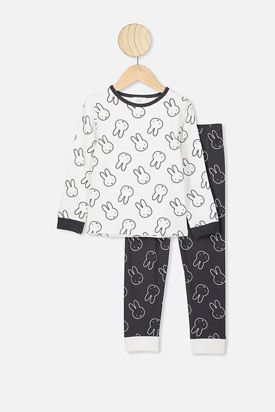 Florence Long Sleeve Pj Set, LCN MIF VANILLA/PHANTOM/MIFFY ALL OVER