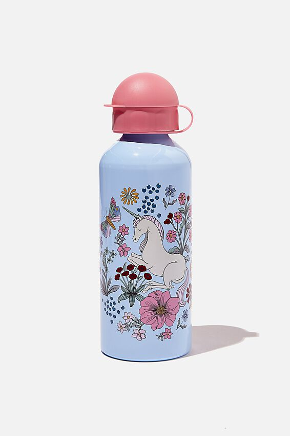 Aluminium Drink Bottle, FLORAL UNICORN