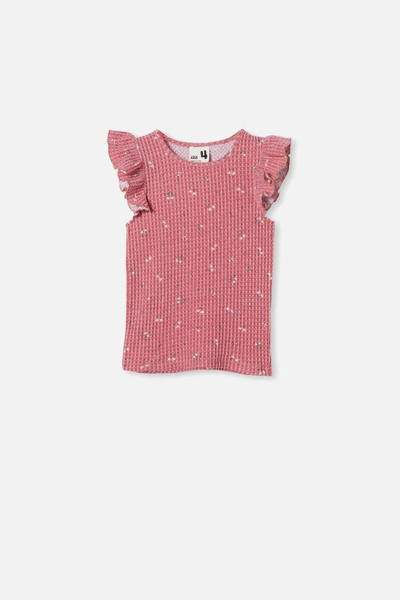 Emma Flutter Short Sleeve Pyjama Set, VERY BERRY FLORAL
