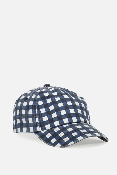 Baseball Cap - Dog, PEACOAT/GINGHAM