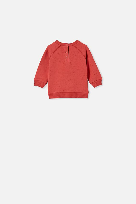 Harley Sweater, RED BRICK NEP