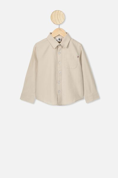 Prep Long Sleeve Shirt, ECRU