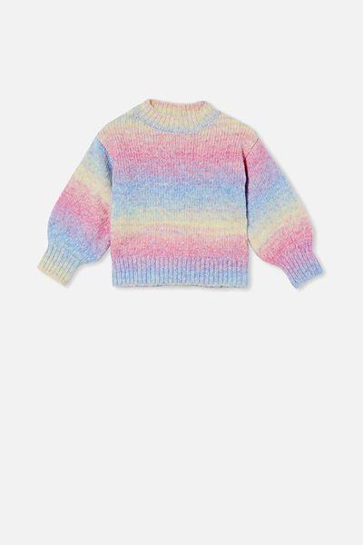 Maisie Knit Jumper, UNICORN RAINBOW
